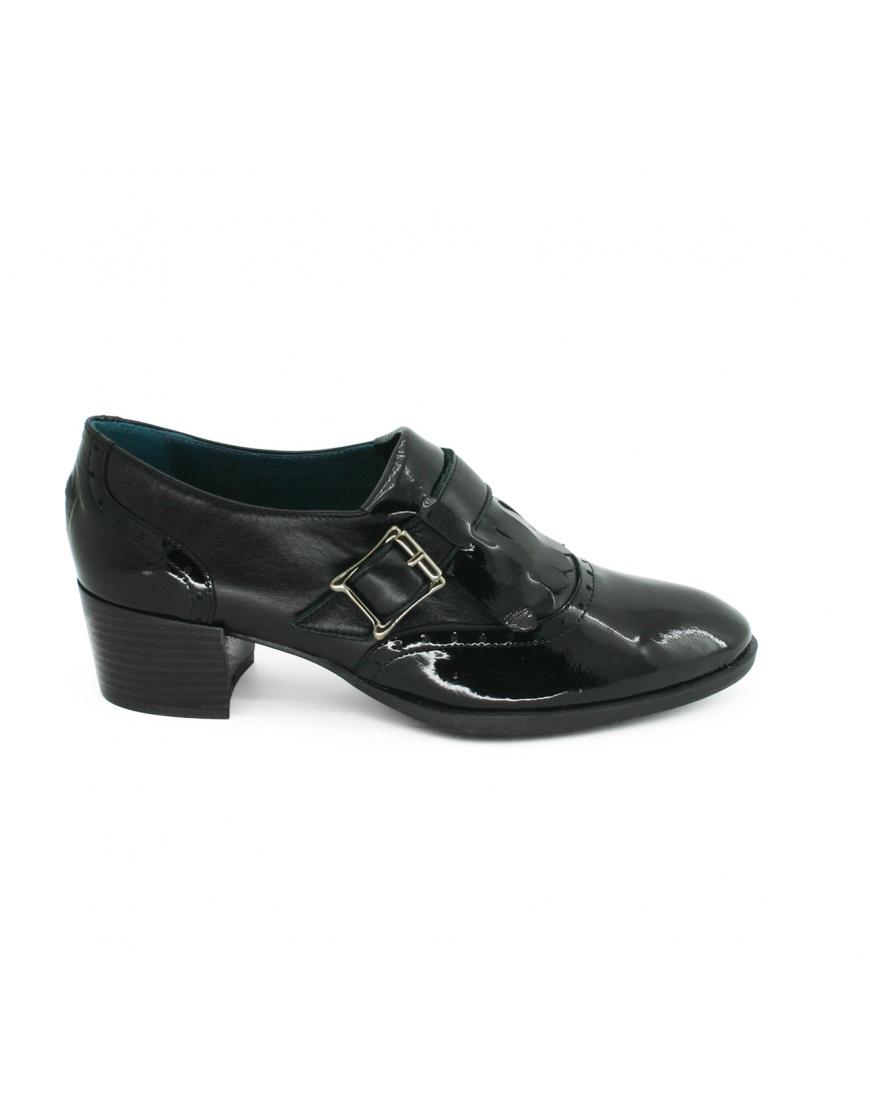 Negro Hebilla Zapato 39 PITILLOS Mujer Flecos w78qUIZ