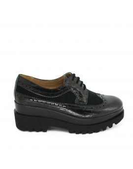 BLUCHER PISO DOBLE NEGRO